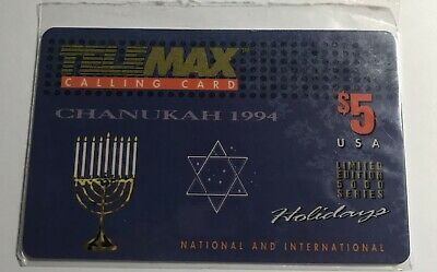 1994 Telemax Chanukah Phone Card LE