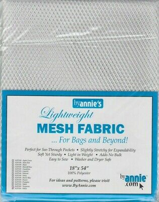 Lightweight Mesh Fabric - White - for bags & beyond - By Annie