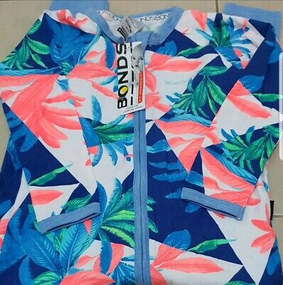 Bonds Geo Floral Wondersuit Size 2 Nwt!