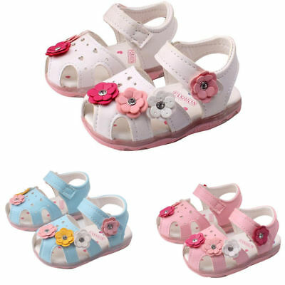 Kids Toddler Baby Girl Sandals Floral Party Princess Sandles Summer Beach Shoes