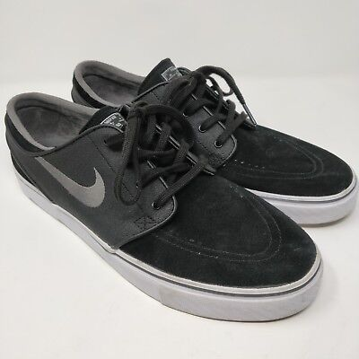 reputable site b35ed 589e4 Nike Zoom Stefan Janoski Men s 10.5 Black Graphite Casual Skate Shoes 333824 -047