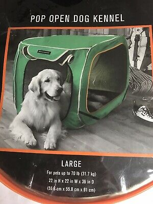 Boots & Barkley Pop Open Dog Kennel Size Large for Dogs up to 70 lb. NEW