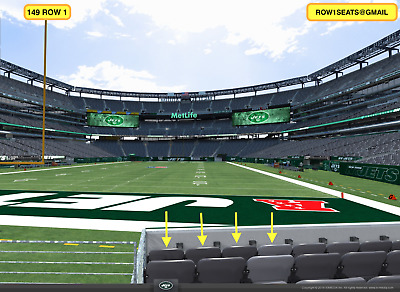 3 Front row Buffalo Bills at New York Jets tickets section 149 row 1
