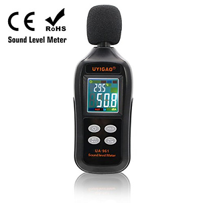 Digital Sound Level Meter, UYIGAO Mini Sound Measurement Testing Audio Noise LCD