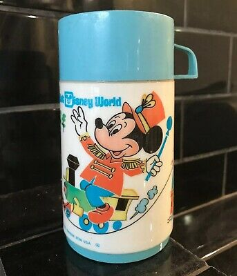 Mickey Mouse Vintage Aladdin Brand Thermos Drink Flask Disney