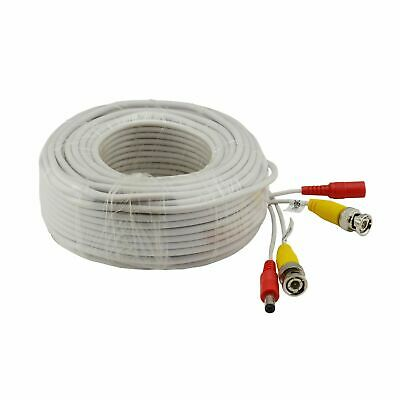 SANNCE 1pcs 8m / 25FT White BNC Cable Video Power Extension Wire Security System