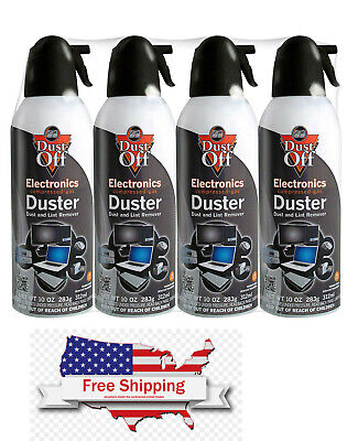 New Canned Air Falcon Dust-Off Compressed Computer Gas Duster 10 oz 4 Pack