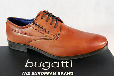 BUGATTI MEN'S SLIPPERS Trainers Lace up Lace Up Loafers Red