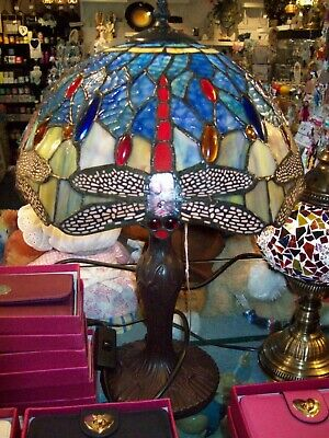 Antique TIFFANY Style New Bed/Living Room Table Lamp Multi Colour Hand Crafted