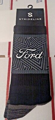 New Ford STRIDELINE Compression Calf Wicking Casual Dress Novelty Socks Men's