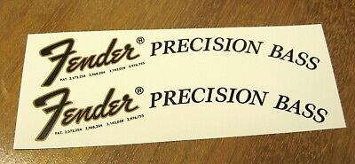 Fender Precision Bass Decal Headstock Decals 1968 - 1975 Waterslide 1951 1952