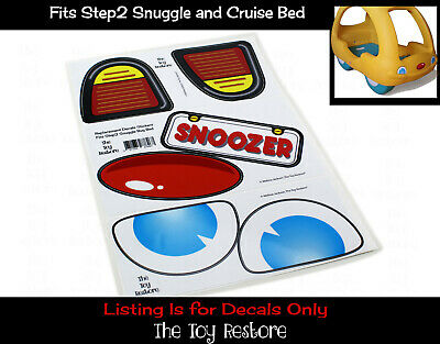 Replacement Decals Stickers fits Step2 Snuggle and Cruise Car Bed KIds Bedroom