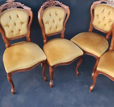 4 Vintage Balloon Back Chairs Dinning chair Good Condition Bedroom chair Project