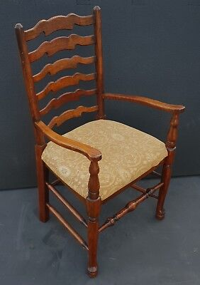 Vintage Carver Chair solid wood country house Farm house kitchen chair