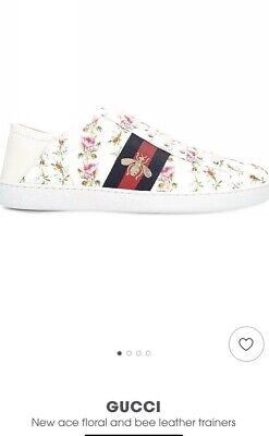 00e2d0ac9 GENUINE GUCCI FLORAL Ace Bee Sneakers Trainers 37.5 4.5 - £123.00 ...