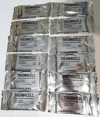 12-Pack New Genuine Thermacell Backpacker Mosquito Repellent Mats Only 48-Hours