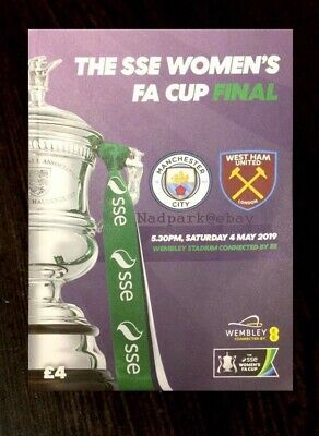 2019 Women's Fa Cup Final Manchester Man City v West Ham United Utd May 04/05/19