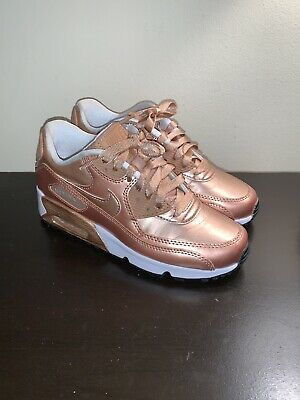 pick up 04e70 2515c Nike Air Max 90 Metallic Bronze Rose Gold 859633-900 DS Size 3.5Y