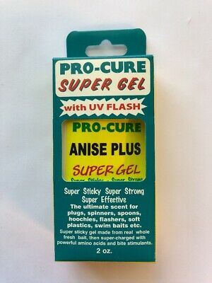 Pro-Cure Super Gel with UV Flash - ANISE PLUS - Scented Gel Fish Scent Bait 2 Oz