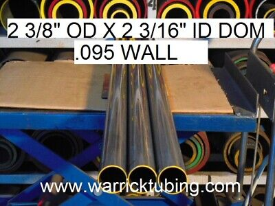 "E0163 Dom Round Steel Tube  2.375"" Od  X   2.185  Id  (.095 Wall)   12""  Long"
