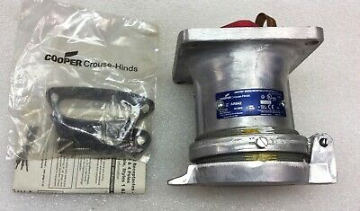 Crouse Hinds Ar642 Arktite Receptacle 4 Pole 60A 600Vac New In Box