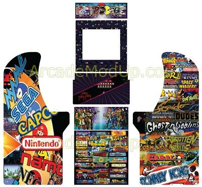 Arcade1Up Arcade Cabinet Graphics Wrap - Full wrap  High quality print &laminate
