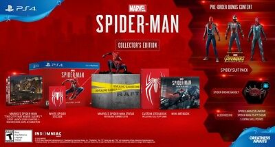 Marvel Spider-Man PS4 Collector's Edition Game for Playstation 4 Factory Sealed