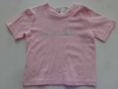 New York Yankees INFANT/TODDLER Pink Majestic TShirt-  New With Tags-  #MIPT