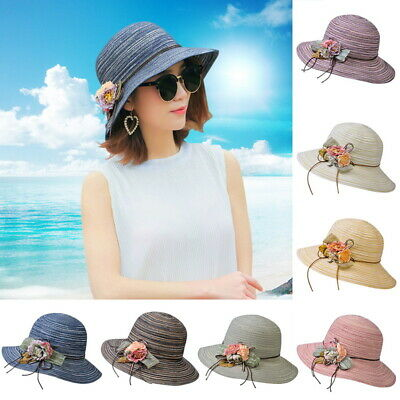 8aafdfba8f327 Women Girl Hat Floppy Derby Travel Foldable Wide Brim Cotton Hat Beach Sun  Caps