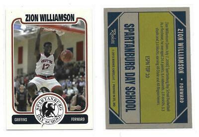 Zion Williamson (DUKE) 2015 Spartanburg Day School H.S Custom Card. Buy more sav