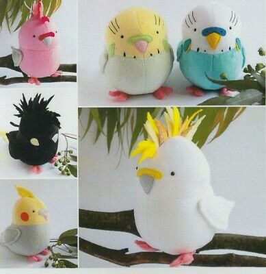 PATTERN - Flock - fabulous fun softie birds PATTERN - RicRac
