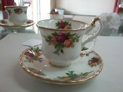 Royal Albert Old Country Roses Miniature Cup & Saucer Made In England Bone China