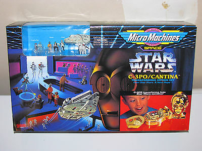 Star Wars Micro Machines, C-3PO/Cantina Action Set, MISB