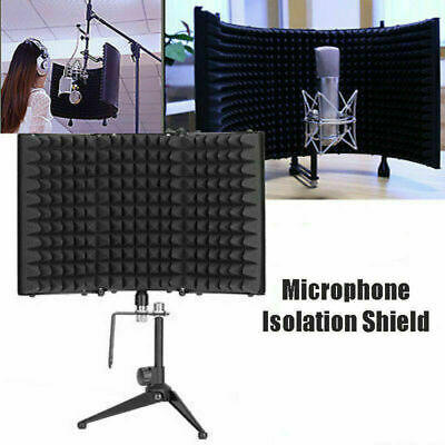 Portable Microphone Booth Studio Recording Vocal Microphone Isolation Shield US
