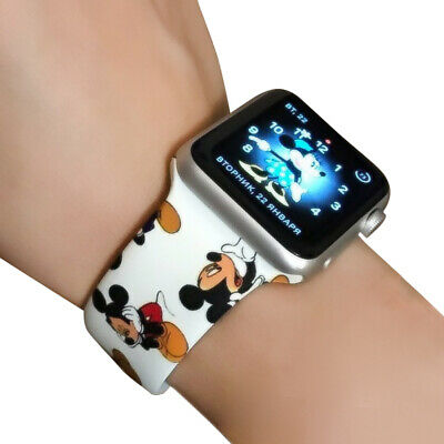 Mickey Mouse Soft Silicone Apple Watch Series 1 2 3 4 5 Band iWatch 38 42 40 44m