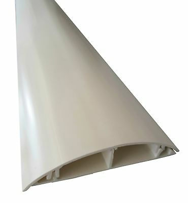 White Floor Cable Channel 1m Self Adhesive 120mm Wide