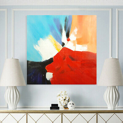 Modern Abstract Hand-Painted Canvas Oil Painting Wall Art Home Decor - Framed
