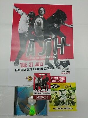Ash - Nu-Clear Sounds CD Autographed With Poster 31 July 2018 Singapore