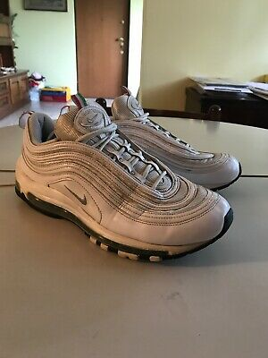 NIKE AIR MAX 97 ULTRA 17 Silver WHITE Originali BIANCHE nuove SNEAKERS SHOES