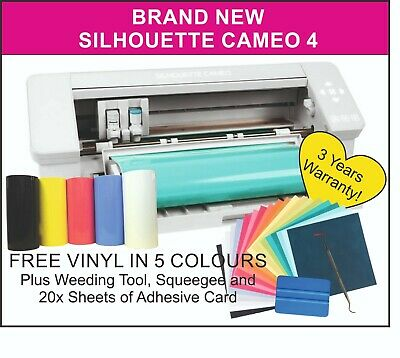 Silhouette Cameo 4, UK Supplier, 3 Years Warranty. FREE VINYL & HOOK TOOL