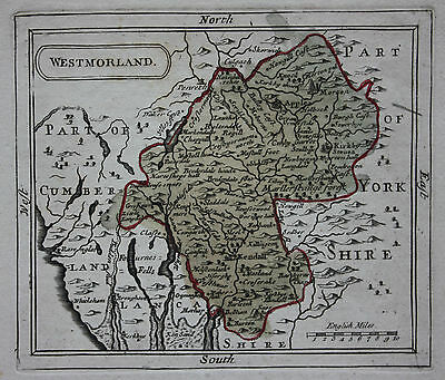 Original antique county map of WESTMORLAND, Seller / Grose c.1775