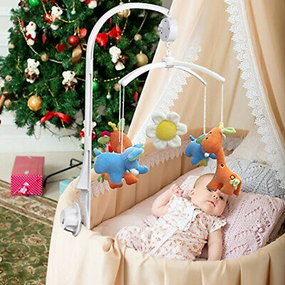 Song Bed Bell Kids Crib Musical Mobile Cot Music Box Gift Baby Rattles Toy UK