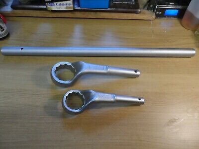 2 x GEDORE Vanadium Single ended ring spanners offset 65 & 55 mm No. 2A Germany