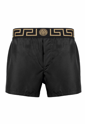 VERSACE Iconic Greca Swimming Shorts - Black - IT 8/IT (3XL/56)/ UK 42/ US 7