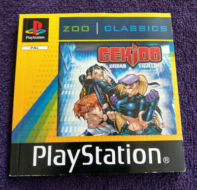 Gekido Urban Fighters Playstation One (Ps1) - Instructions Only - No Game