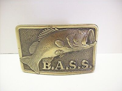 1970's Bass Anglers Sportsman Society The Great American Buckle Co. Belt Buckle