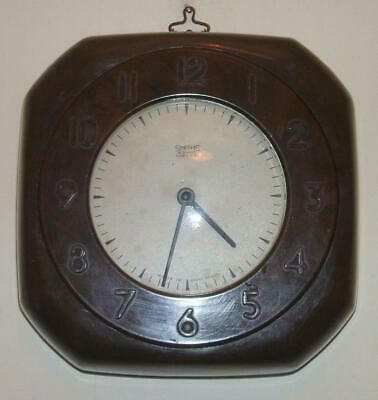Vintage Bakelite Art Deco Smiths 8 Day Wind Up Wall Clock - Working Condition