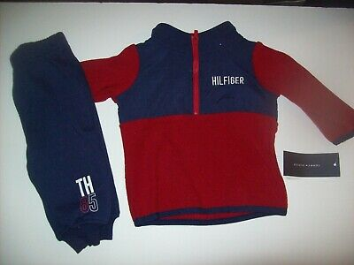 Baby Boys TOMMY HILFIGER Shirt & Pants Outfit Sz 6 - 9 Months New NWT MSRP $50