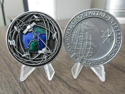 National Geospatial Intelligence Agency 3D GEOINT DoD NGA NSA Challenge Coin