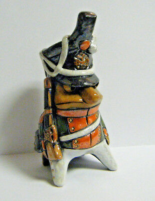 Unusual Vintage Mexican Soldier Officer Musical Ocarina Horn Art Pottery